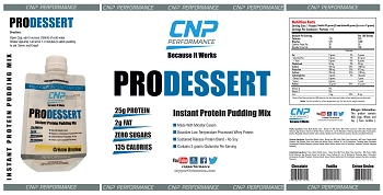 Pro Dessert Instant Protein Pudding Mix 15 Pack (Creme Brulee)