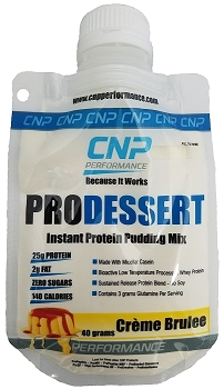 Pro Dessert Instant Protein Pudding Mix 5 Pack (Creme Brulee)